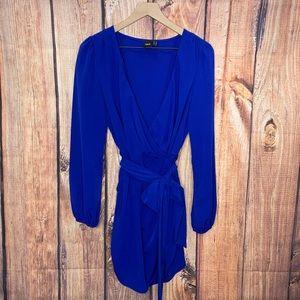 ASOS | Long Long Sleeve Mini Wrap Dress Size 10